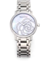 Valentino - Rose Motherofpearl Stainless Steel Watch - Lyst