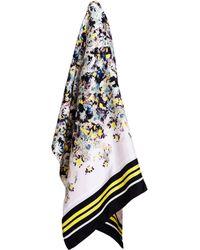 Erdem - Sullivan Floral Printed Silk Twill Scarf - Lyst