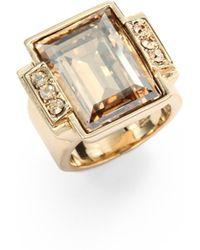 Judith Leiber Cherisse Swarovski Crystal Cocktail Ring - Lyst