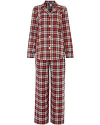 Lauren by Ralph Lauren - Glen Ridge Brushed Twill Check Pj Set - Lyst