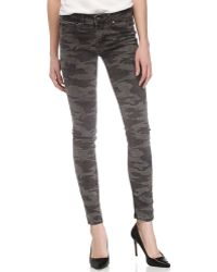 Fade To Blue Camouflage Print Skinny Jeans - Lyst