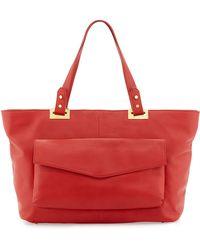 Rachel Zoe Abbey Eastwest Leather Tote Bag - Lyst