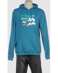 Billabong Hooded Sweatshirt blue - Lyst
