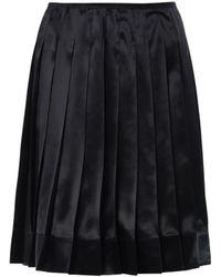 Marc Jacobs Pleated Silk-Satin Skirt - Lyst