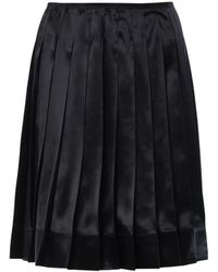 Marc Jacobs Pleated Silk-Satin Skirt black - Lyst
