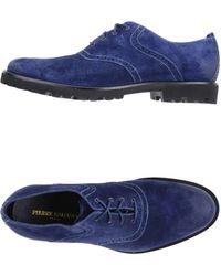 Balmain Laceup Shoes - Blue