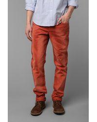 Urban Outfitters Standard Cloth Burnt Ochre Skinny Jean - Orange