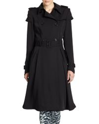 Alice + Olivia Doreen Belted Trench Coat - Lyst