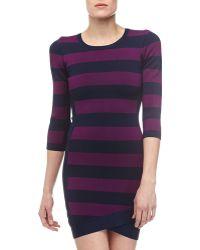 BCBGMAXAZRIA Kendall Striped Knit Dress - Lyst
