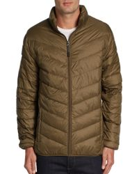Blue Saks Fifth Avenue - Quilted Chevron Puffer Jacket - Lyst
