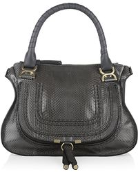 Chloé Medium Marcie Python Shoulder Bag - Lyst
