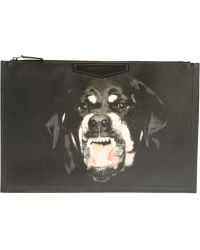 Givenchy Large Pony Hair-embossed Leather Pouch - Black