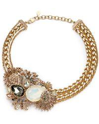 Judith Leiber | Lulu Crystal Cluster Necklace | Lyst