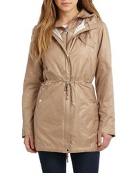 Laundry by Shelli Segal - Waterproof Quilted Vest Hooded Jacket - Lyst