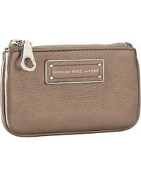 Marc By Marc Jacobs Too Hot To Handle Metallic Key Pouch - Lyst