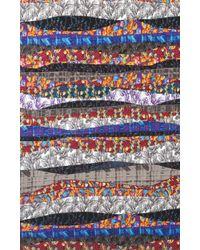 Nicole Miller Chaos Print Infinity Scarf - Multicolor