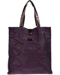 Roccobarocco Large Fabric Bag - Purple
