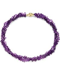 Saks Fifth Avenue Amethyst Briolette Doublestrand Necklace - Lyst