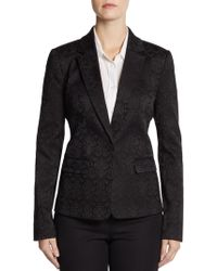 Saks Fifth Avenue Black Label - Brocade Jacket - Lyst