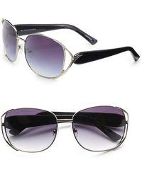 Saks Fifth Avenue - Jamie Round Metal Sunglasses - Lyst