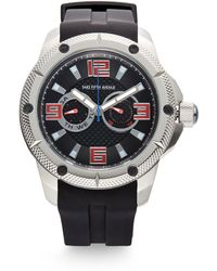 Saks Fifth Avenue - Stainless Steel Silicone Strap Watch - Lyst