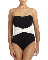 Spanx Belted Style One Piece Swimsuit - Lyst