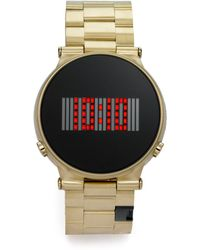 Storm - Camden Digital Goldtone Stainless Steel Watch - Lyst