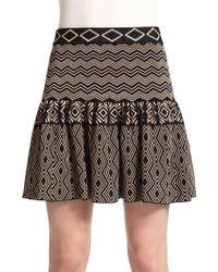 Torn - Camelia Tribal Print Jacquard Skirt - Lyst