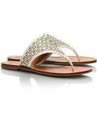 Tory Burch Amara Flat Thong Sandal - Lyst