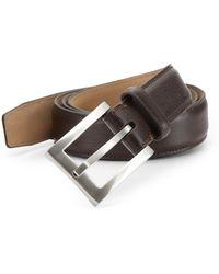 Tumi - Textured Leather Belt - Lyst