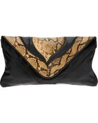 Valentino Vintage S Snakeskin and Leather Bag - Lyst