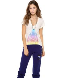 Wildfox - Howl At The Rainbow Tee - Lyst