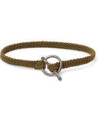 Yuvi - Silver and Woven Cord Bracelet - Lyst