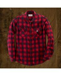 Denim & Supply Ralph Lauren Flannel Ward Workshirt - Red