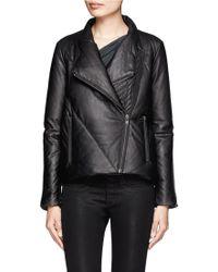 Helmut Lang Leather Puffer Jacket - Black