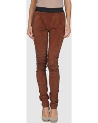 Les Hommes - Femme Leather Trousers - Lyst