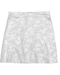 Lulu & Co Metallic Brocade Mini Skirt