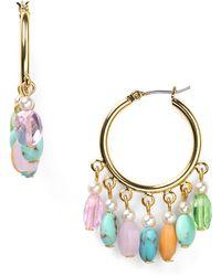 Ralph Lauren Lauren Half Moon Hoop Earrings - Lyst