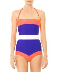 Roksanda Ilincic Talgo Colour Block Swimsuit - Lyst