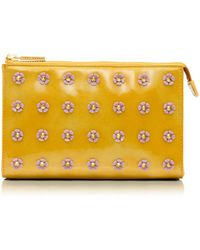 Tory Burch - Spiked Flower Tall Cosmetic Case - Lyst