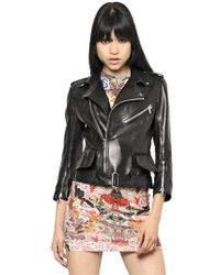 Alexander McQueen Soft Nappa Leather Biker Jacket - Lyst