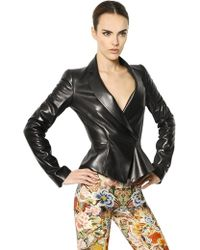 Alexander McQueen Soft Nappa Leather Jacket - Lyst