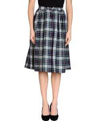 American Apparel - Mid-Length Skirt - Lyst