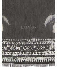 Balmain - Eagle Printed Silk Stole - Lyst