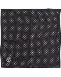 Dolce & Gabbana Polka Dots Silk Pocket Square - Lyst