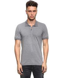 Dolce & Gabbana Logo Cotton Piqué Polo Shirt - Lyst