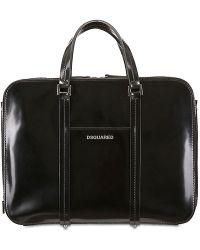 DSquared² Brushed Leather Bag - Black