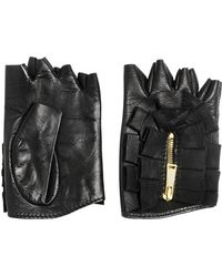 DSquared² - Fingerless Ruffled Nappa Leather Gloves - Lyst
