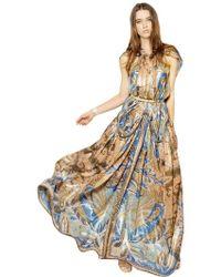 Etro Lurex Woven Cashmere & Silk Long Dress - Lyst