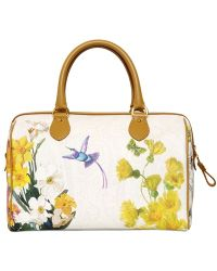 Etro Floral Wayside Top Handle Bag - White